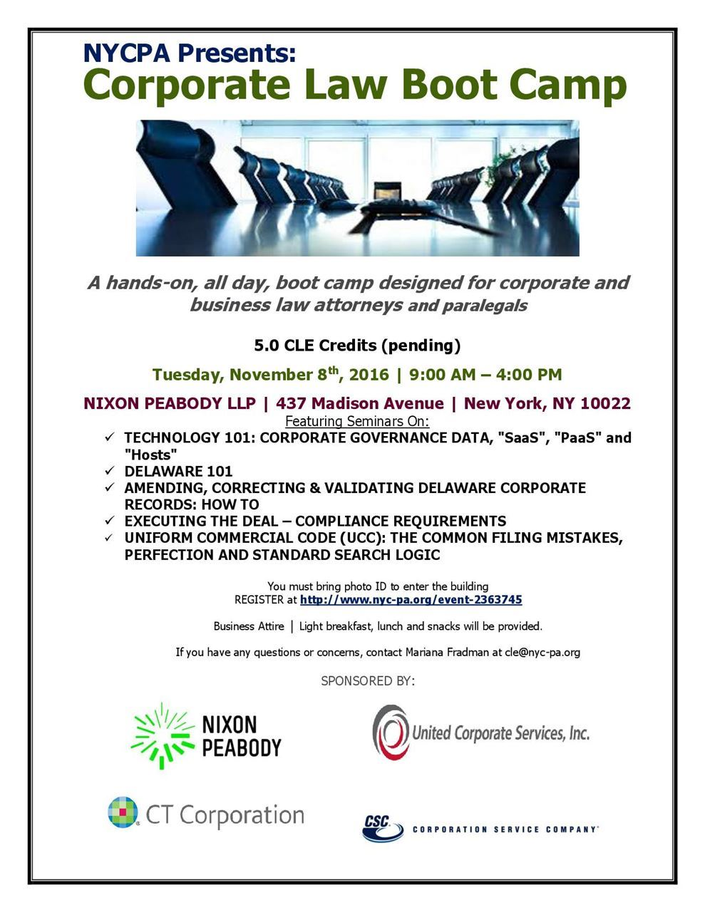 New York City Paralegal Association Nycpa Cle Series Corporate