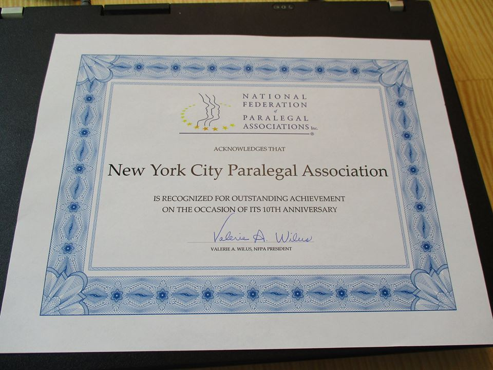 New York City Paralegal Association - Past Events